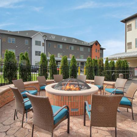 Resident Fire Pit | Apartments Homes for rent in Buffalo, NY | Axis 360