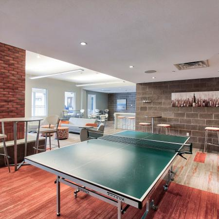 Resident Game Room with Ping Pong Table | Buffalo NY Apartment For Rent | Axis 360
