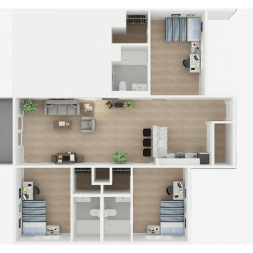 3x3 Floor Plans | Valley Falls | Apartments in Spartanburg, SC