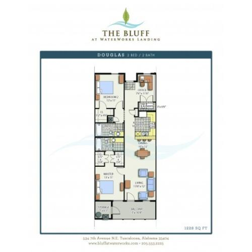 2 Bed 2 Bath - Douglas