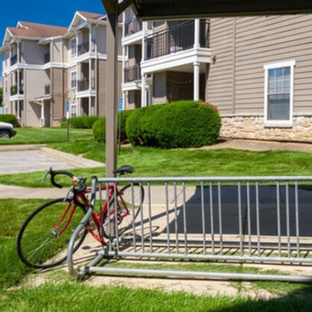 Bike Racks at Legends Place | Lawrence Apartments