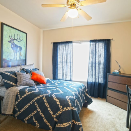 Comfortable Bedroom | Legends Place | Lawrence Apartments
