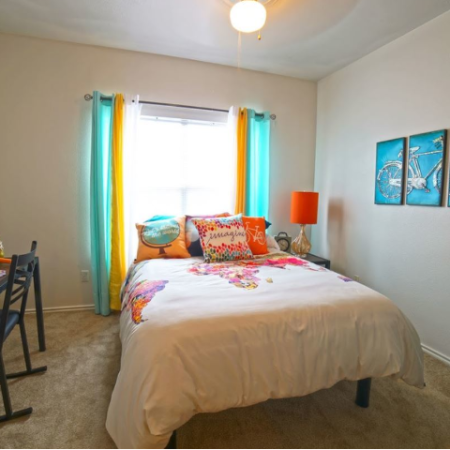 Roomy Master Bedroom | Legends Place | Off-Campus KU Apartments