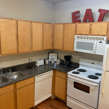 Prep-friendly Kitchen | Legends Place | Apartments in Lawrence, KS