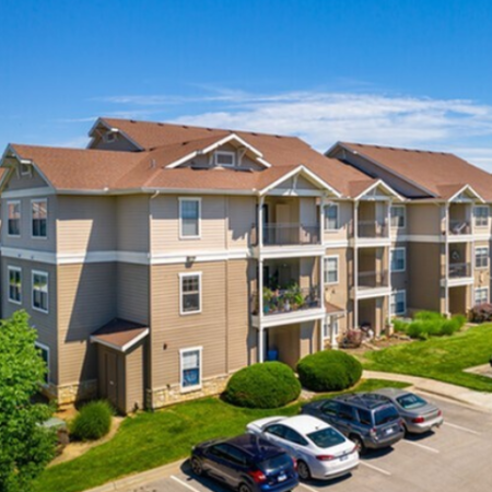Parking and Landscaping Legends Place | Binghamton Apartments near KU