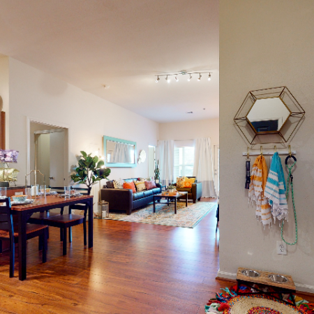 Open concept kitchen-dining-living area | The Edge on Hovey | Apartments in Normal, IL