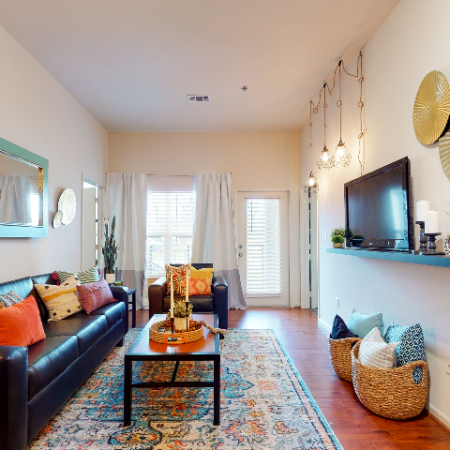 Linear Style Living Room | The Edge on Hovey | Apartments in Normal, IL