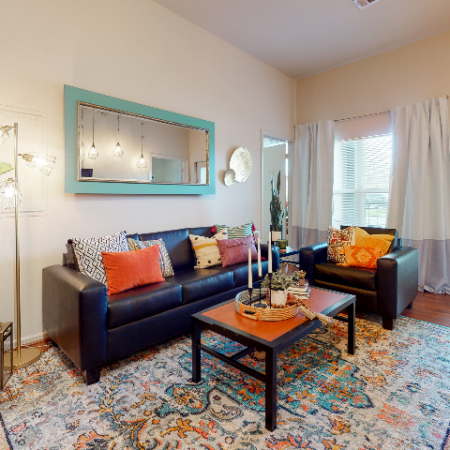 Light filled living room | The Edge on Hovey | Apartments in Normal, IL