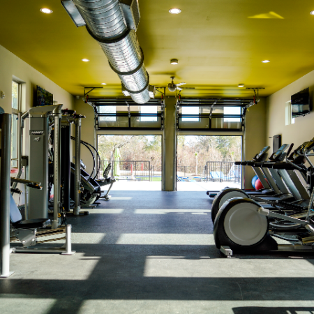 Resident Fitness Center   Campion at Lafayette   Lafayette Apartments Near UL Campus