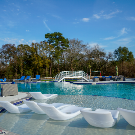 In-Pool Lounge Chairs at Campion at Lafayette   Apartments in Lafayette
