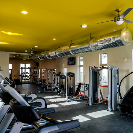 Fully Equipped Fitness Center   Campion at Lafayette   Off-Campus Lafayette Apartments