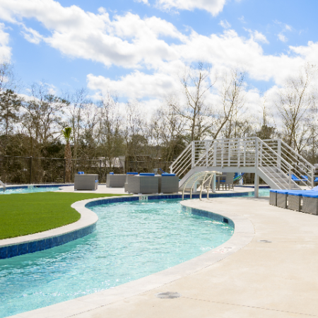 Lazy-River - Pool Area & Sundeck by Pool   Campion at Lafayette   Apartments in Lafayette