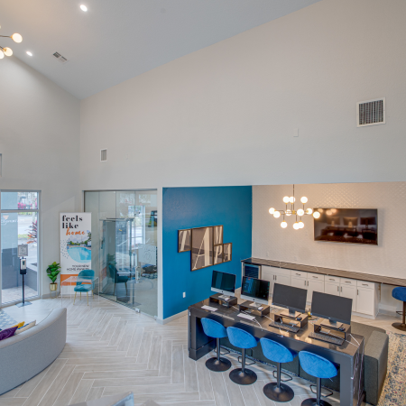 Thoughtfully designed Resident Club House | Station 42 | Tampa Florida Apartments