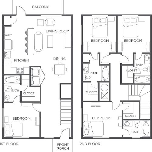 4x4 | Townhome | Wildwood Lubbock | Apartments near Texas Tech