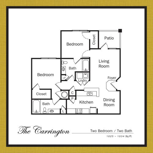 Floor Plan 4 | Apartments For Rent In Mooresville NC | Legacy Village
