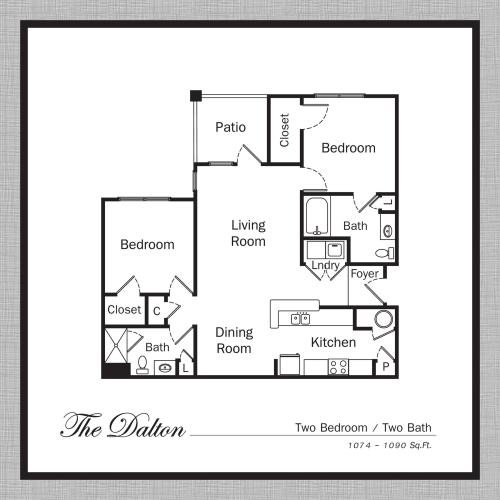 Floor Plan 5 | Apartments In Mooresville NC | Legacy Village