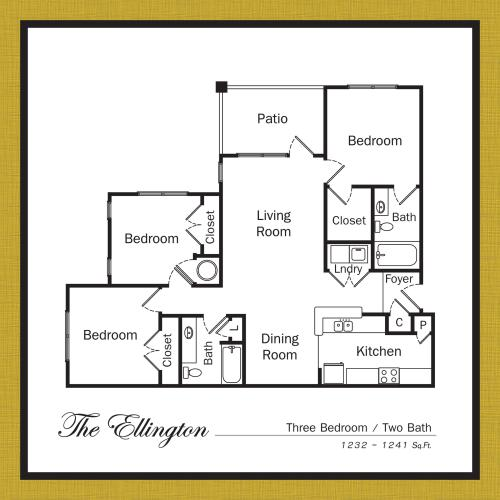 Floor Plan 7 | Apartments For Rent In Mooresville NC | Legacy Village