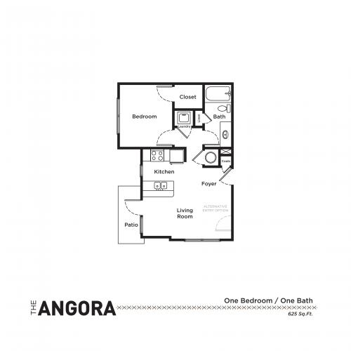 1 Bedroom Floor Plan | Apartments In Fort Mill SC | Kingsley Apartments