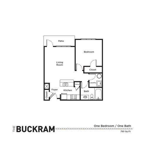 Floor Plan 1 | Apartments In Fort Mill SC | Kingsley Apartments