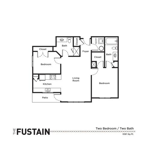 Floor Plan 4 | Apartments For Rent Fort Mill SC | Kingsley Apartments