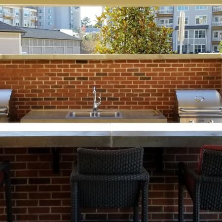 Community BBQ Grills | Apartments In Fort Mill SC | Kingsley Apartments