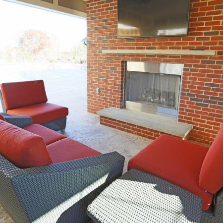 Community Fire Pit | Apartments In Fort Mill SC | Kingsley Apartments
