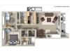 2 Bedroom 2 Bath 910 Sq Ft