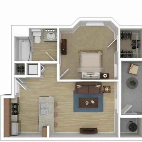 1 Bedroom Floor Plan | Apartments For Rent In Phoenix Az | Andante