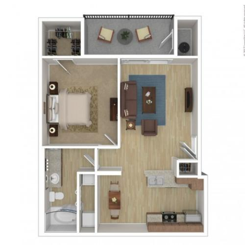 1 Bdrm Floor Plan | 2 Bedroom Apartments Phoenix Az | Andante
