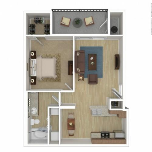 1 Bdrm Floor Plan | 2 Bedroom Apartments Phoenix Az | Andante