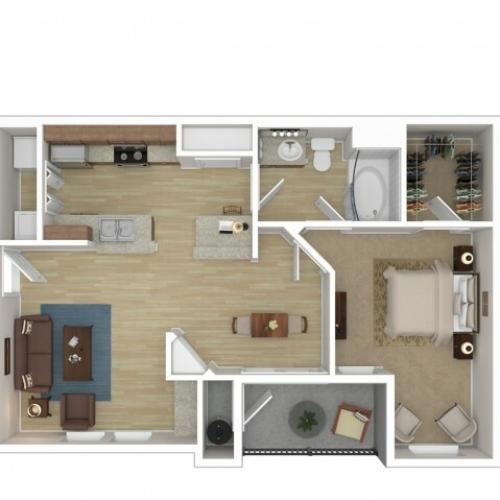 Floor Plan 1 | Apartments For Rent In Phoenix Az | Andante