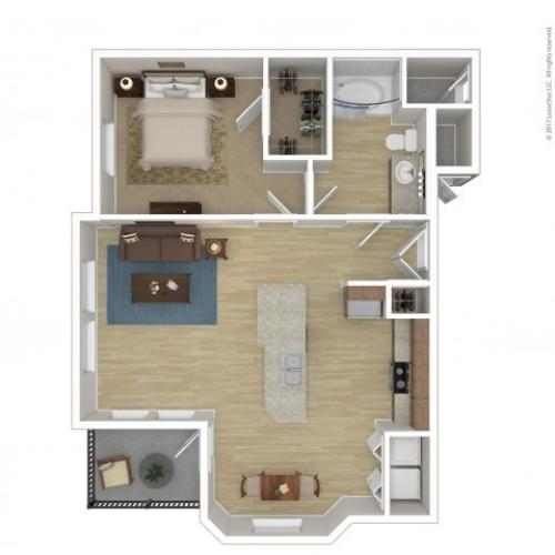 Floor Plan 2 | 2 Bedroom Apartments Phoenix Az | Andante