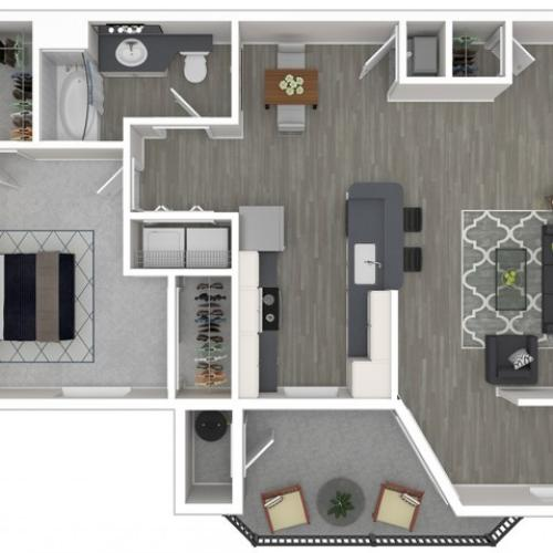 1 Bedroom Floor Plan | Apartments For Rent In Sacramento Ca | Broadleaf Apartments
