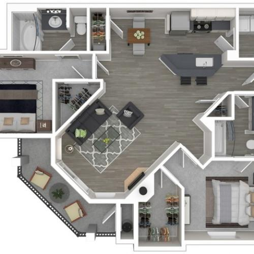 Floor Plan 1 | Apartments For Rent In Sacramento Ca | Broadleaf Apartments