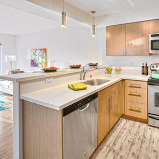 The Noble Apartments Kitchen