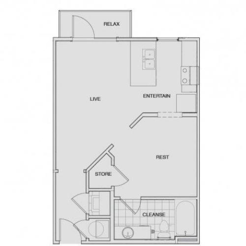 Floor Plan 2 | Two Bedroom Apartments Nashville | Note 16