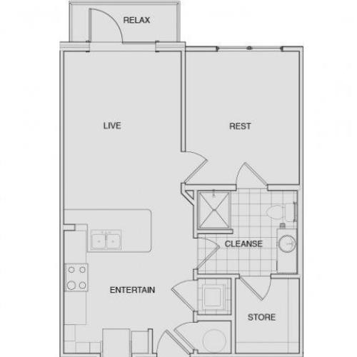 Floor Plan 3 | Apartments In South Nashville | Note 16