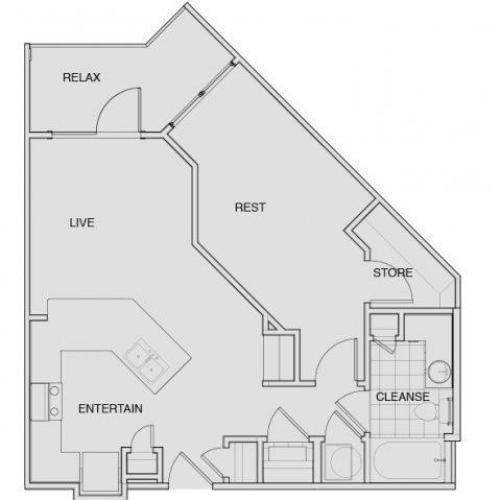 Floor Plan 4 | South Nashville Apartments | Note 16