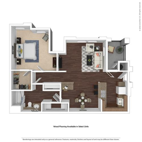 1 Bedroom Floor Plan | Apartments For Rent In Henderson Nv | Verona