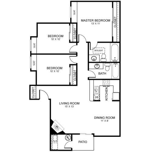3 Bedroom Floor Plan | Luxury Apartments In Henderson Nv | Martinique Bay