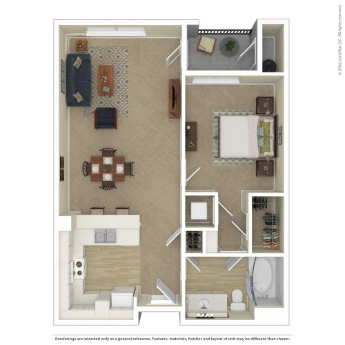 Floor Plan 5 | Apartments For Rent In North Las Vegas | Avanti