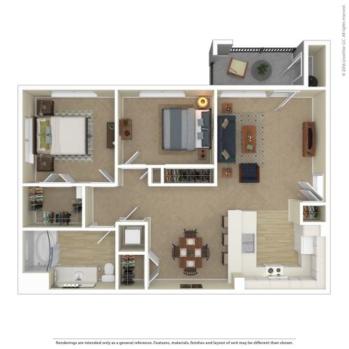 Floor Plan 8 | Best Apartments In North Las Vegas | Avanti
