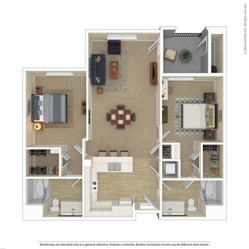 Floor Plan 13 | Best Apartments In North Las Vegas | Avanti