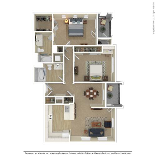 Floor Plan 14 | Apartments In Northwest Las Vegas Nv | Avanti