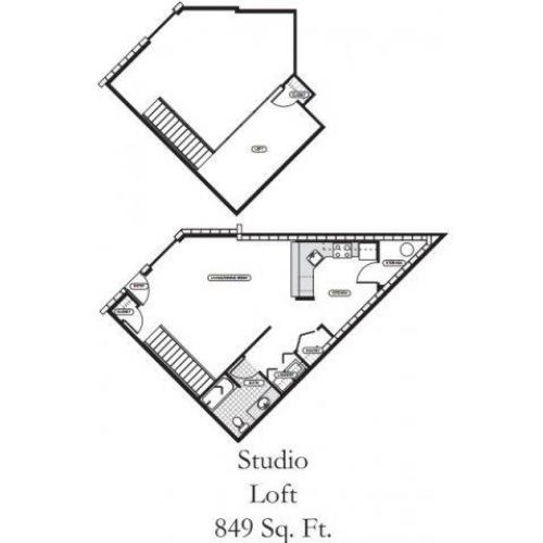 Studio Floor Plan | Dupont Wa Apartments | Trax at DuPont Station