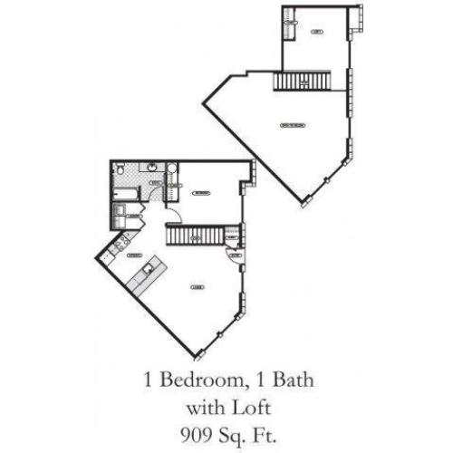 1 Bedroom Floor Plan | Dupont Washington Apartments | Trax at DuPont Station