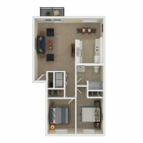 2 Bedroom Floor Plan   Apartments For Rent In Spokane, WA   Eagle Pointe Apartments