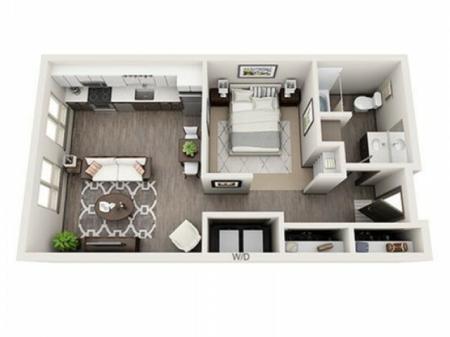 Studio Floor Plan | Apartments Near Hillsboro Oregon | Tessera at Orenco Station