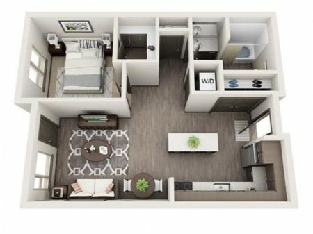 Floor Plan 1 | Apartments For Rent In Hillsboro Oregon | Tessera at Orenco Station
