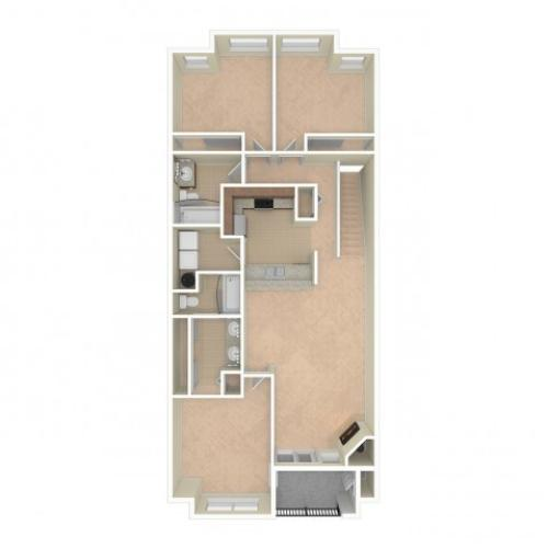 3 Bdrm Floor Plan   Apartments For Rent In Redmond, WA   The Heights at Bear Creek
